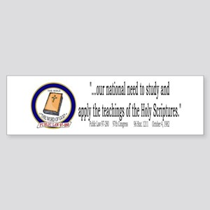 """""""Congress & Bible"""" Bumper Sticker"""