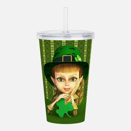 Cutest Leprechaun Girl Acrylic Double-wall Tumbler