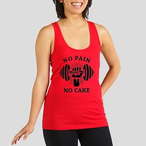 No Pain No Cake BLK Racerback Tank Top
