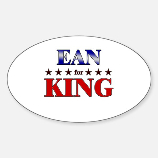 EAN for king Oval Decal