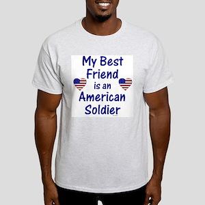 Best Friend/Soldier Ash Grey T-Shirt