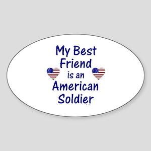 Best Friend/Soldier Oval Sticker