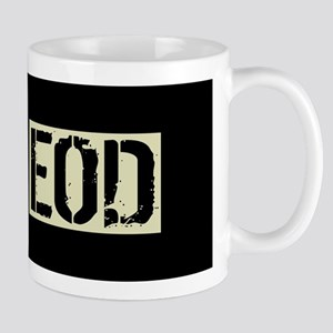 U.S. Military: EOD (Black Flag) 11 oz Ceramic Mug