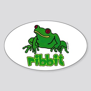 Ribbit Frog Oval Sticker