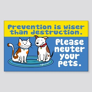 Prevention is Wiser Rectangle Sticker