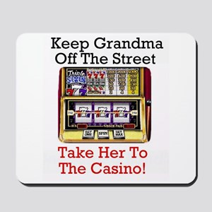 Slot playing grandma's Casino Theme Mousepad