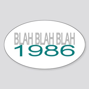 BLAH BLAH BLAH 1986 Sticker (Oval)