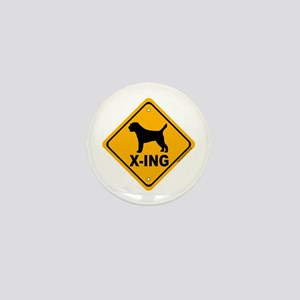Border Terrier X-ing Mini Button (10 pack)