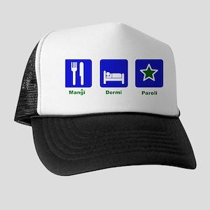 Eat Sleep Speak Trucker Hat