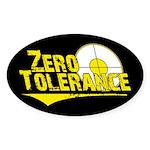 Zero Tolerance Oval Sticker