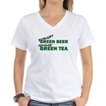 GREEN TEA Women's V-Neck T-Shirt