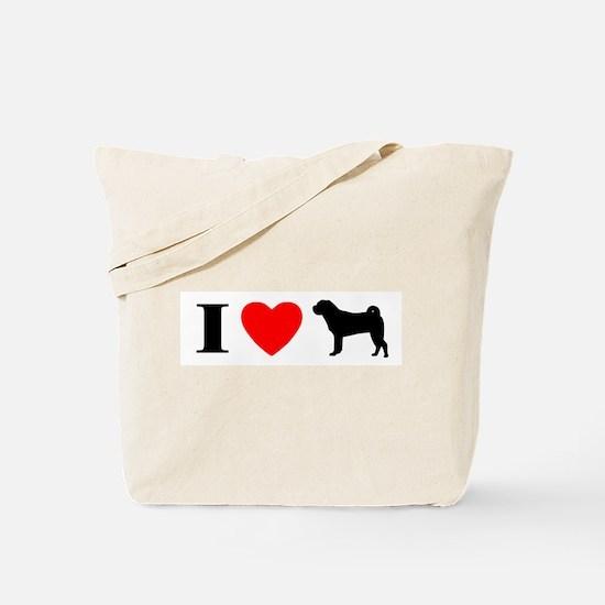 I Heart Shar Pei Tote Bag