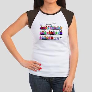 Alphabet Train Women's Cap Sleeve T-Shirt