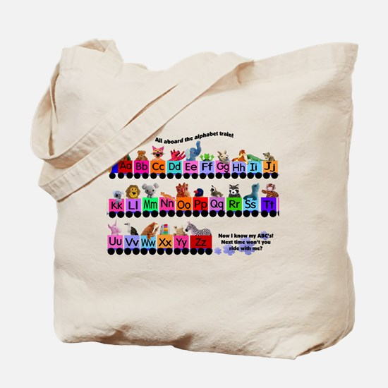Alphabet Train Tote Bag