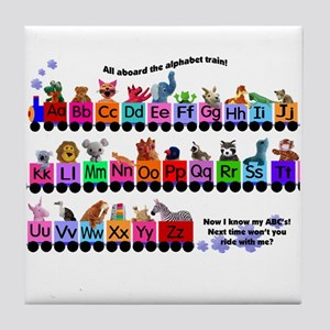 Alphabet Train Tile Coaster