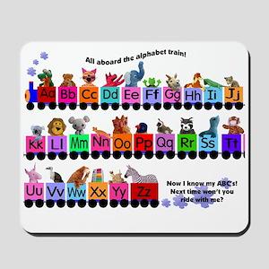 Alphabet Train Mousepad