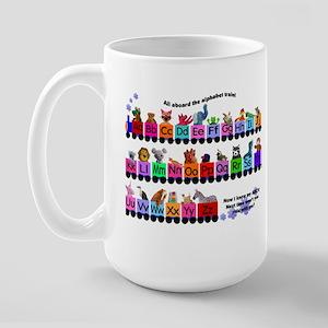 Alphabet Train Large Mug