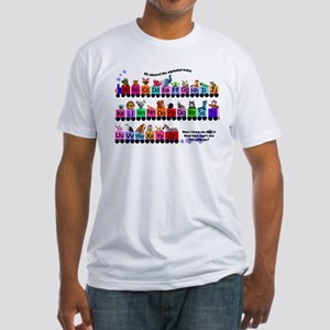 Alphabet Train Fitted T-Shirt