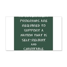 Nation that is self-reliant and charitable Wall De