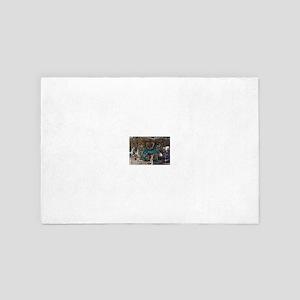 Seahorse Carousal 4' x 6' Rug