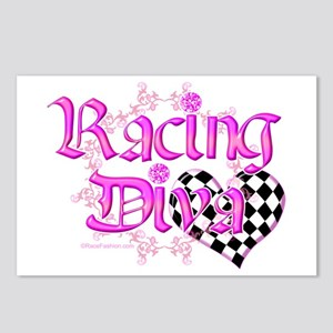 Racing Diva Orange Postcards (Package of 8)