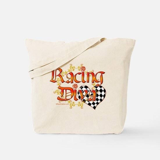 Racing Diva Orange Tote Bag