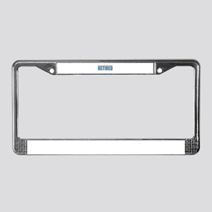 Retired and busy License Plate Frame