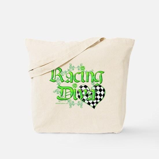 Racing Diva Pink Tote Bag