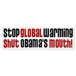 Shutt Obama's Mouth Bumper Sticker
