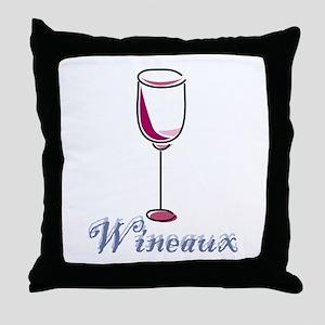 Wineaux Throw Pillow
