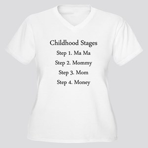 Childhood Stages Women's Plus Size V-Neck T-Shirt