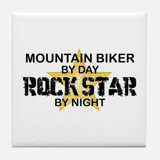 Mountain Biker RockStar Tile Coaster