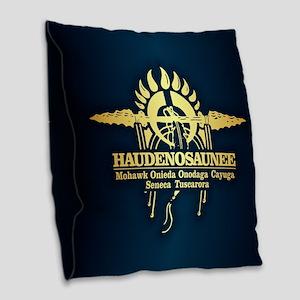 Haudenosaunee Burlap Throw Pillow