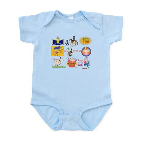 Happy Purim Collage Infant Bodysuit