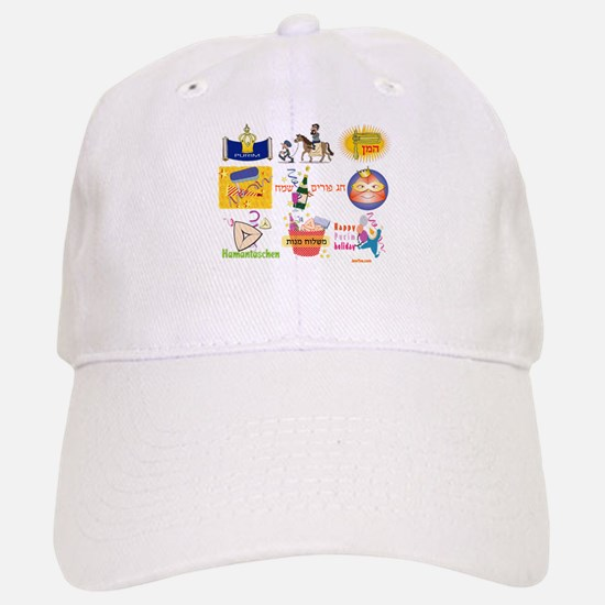 Happy Purim Collage Baseball Baseball Cap