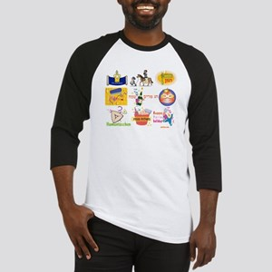 Happy Purim Collage Baseball Jersey