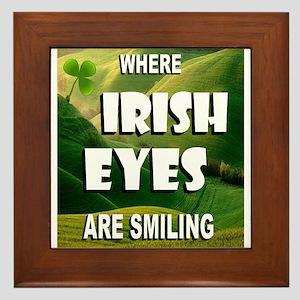 IRISH EYES Framed Tile