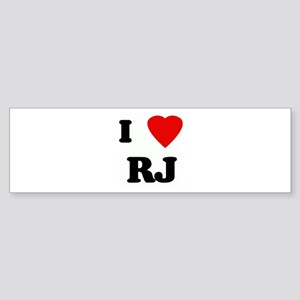 I Love RJ Bumper Sticker