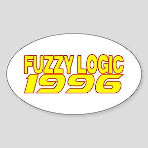 FUZZY LOGIC 1996 Sticker (Oval)