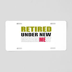retirement Aluminum License Plate