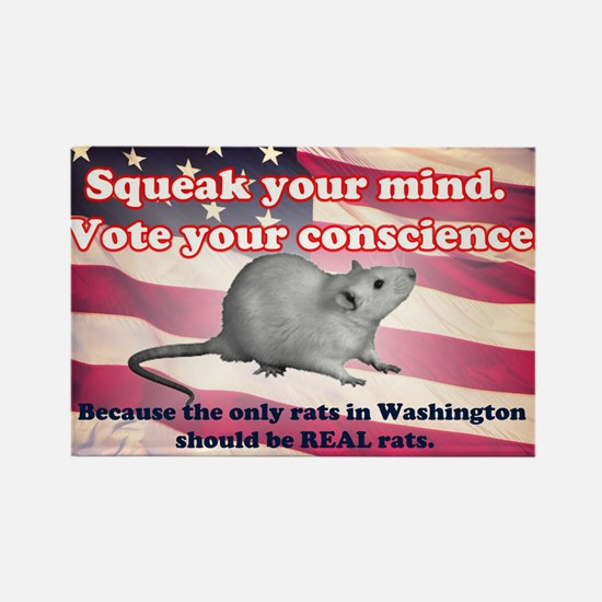 Squeak Your Mind Rectangle Magnet