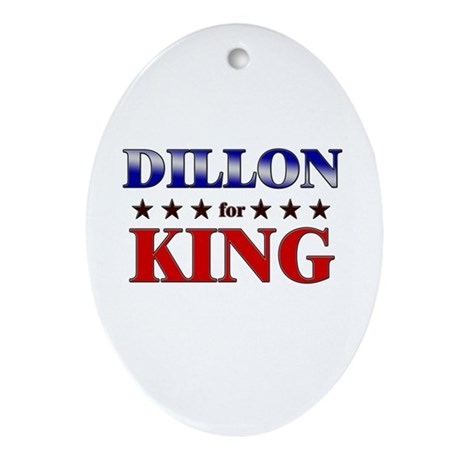 DILLON for king Oval Ornament