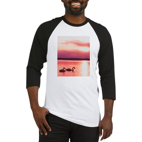 The Swans At Sunset Baseball Jersey