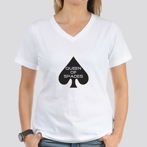 Queen of Spades Women's V-Neck T-Shirt