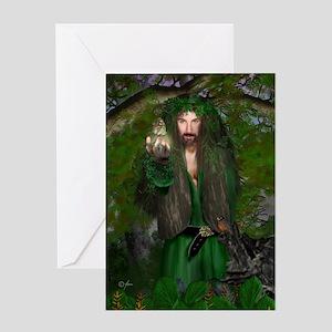Oak King Greeting Card