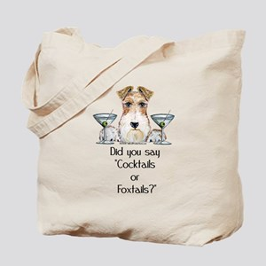Wire Fox Terrier Martini Tote Bag