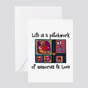 Life is A Patchwork - Quilt Greeting Card