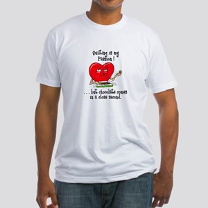 Quilting and Chocolate Fitted T-Shirt