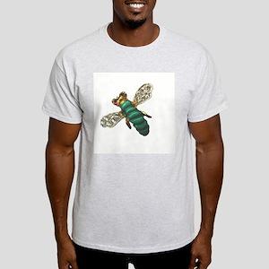 Green Bee Ash Grey T-Shirt