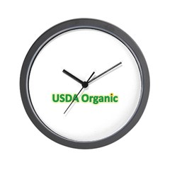 USDA Organic Wall Clock